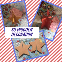 kids craft wooden star wooden present wooden christmas decoration