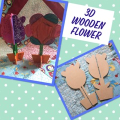 kids craft wooden flower