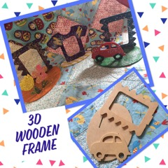 kids craft wooden photo frame