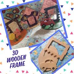 kids craft wooden photo frame