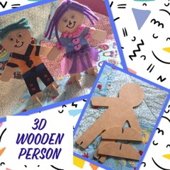 kids craft wooden people