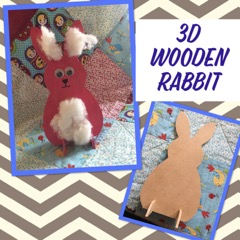 kids craft wooden rabbit