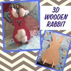 kids craft wooden rabbit