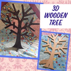kids craft wooden tree