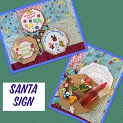 DIY kids craft kit santa stop here wooden art santa sign christmas decoration